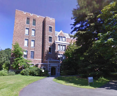 Street View of Communications Building (CMU) on University of Washington campus